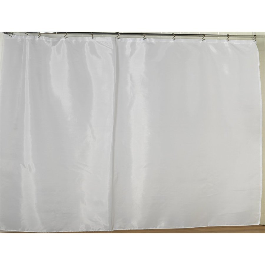 Carnation Home Fashions Polyester White Solid Shower Liner 72 In X 108
