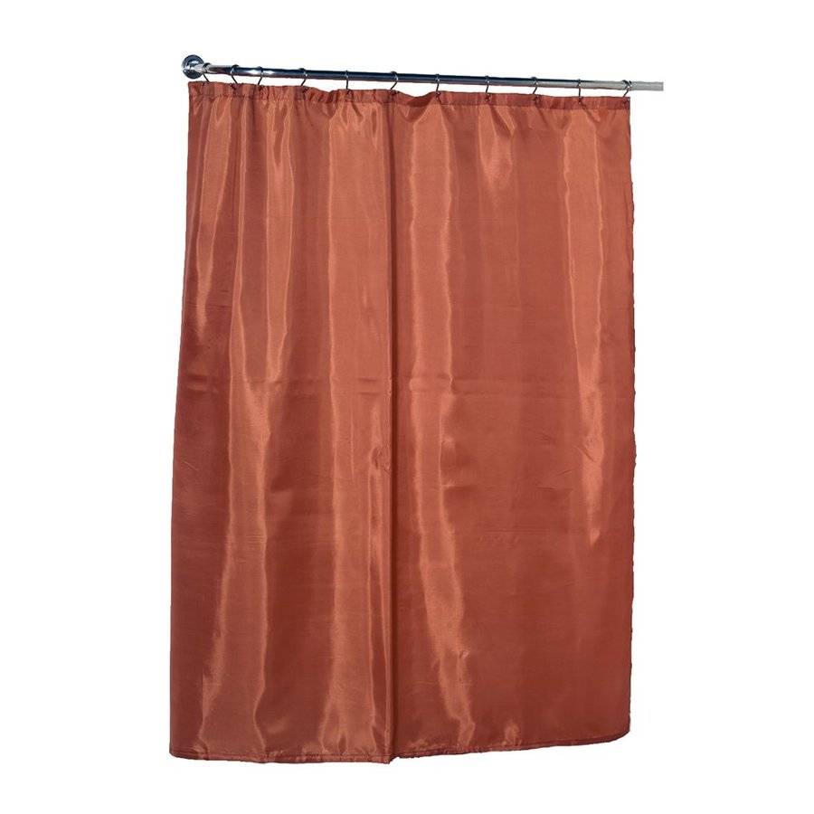 Carnation Home Fashions Polyester Tangerine Solid Shower Liner
