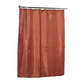 Carnation Home Fashions Polyester Tangerine Solid Shower Liner 72 In X 70