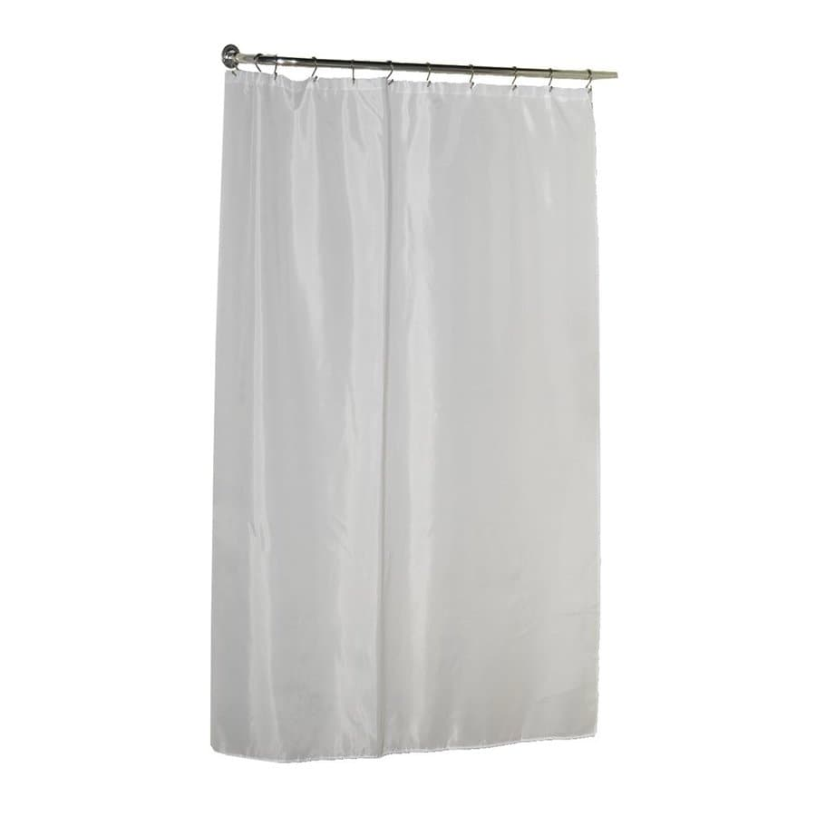 Carnation Home Fashions Polyester White Solid Shower Liner 84 In X 70