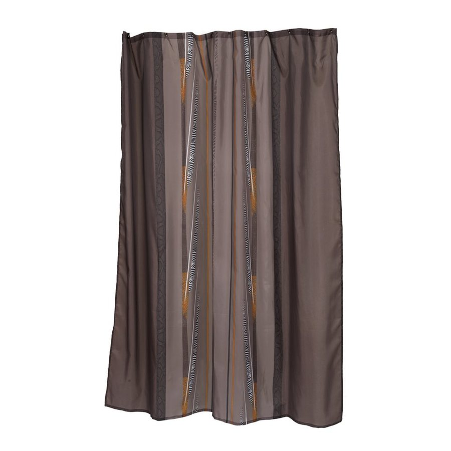 Carnation Home Fashions Catherine Polyester Brown Patterneded Shower Curtain 84 In X 70