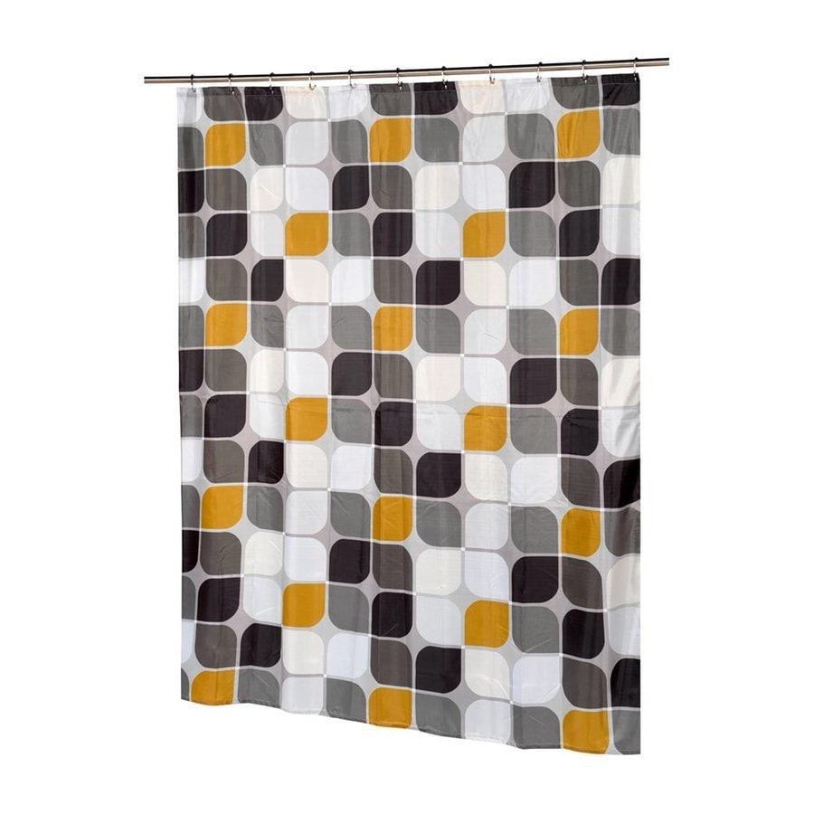 Carnation Home Fashions Metro Polyester Greyorange Geometric Shower