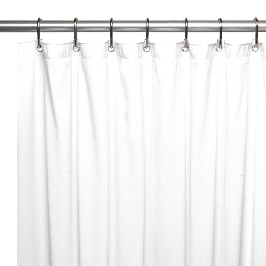 Carnation Home Fashions 8 Gauge Vinyl White Solid Shower Liner