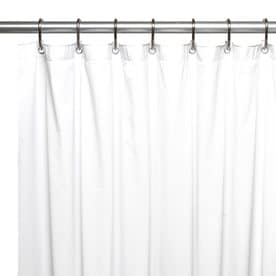 Carnation Home Fashions Vinyl White Solid Shower Liner 78 In X 54