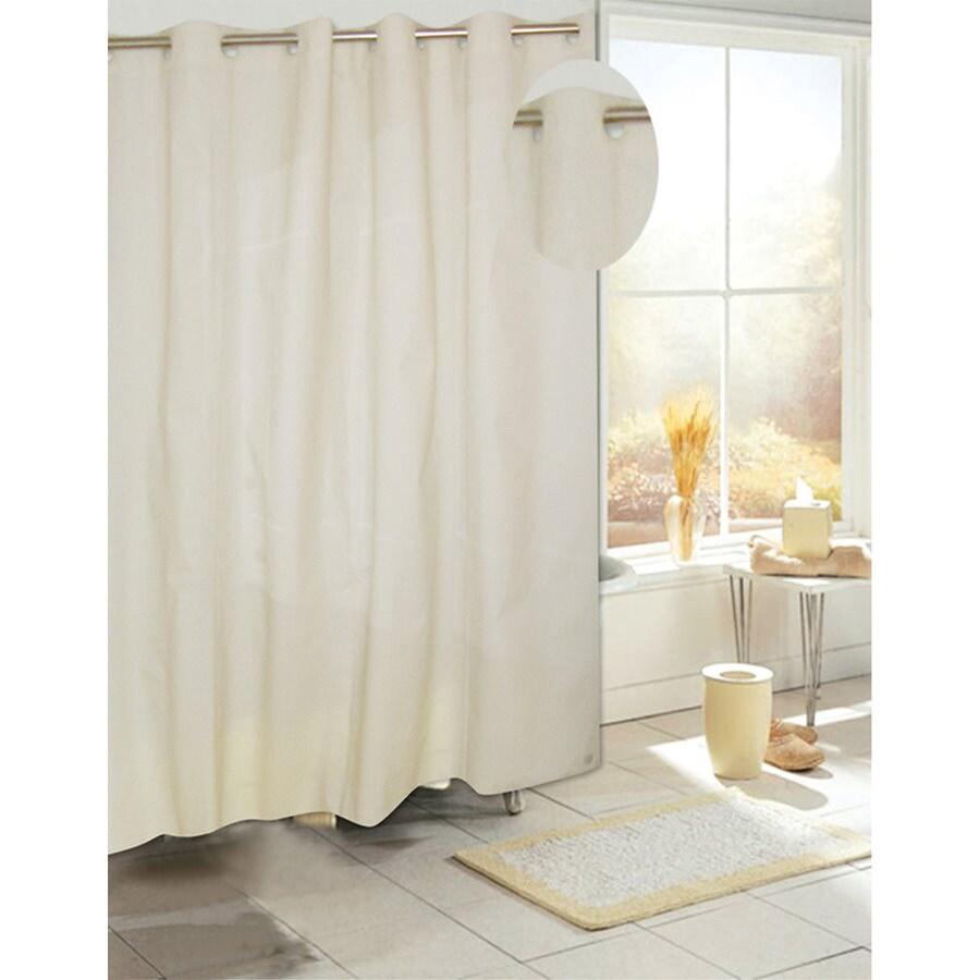 Carnation Home Fashions Eva/Peva Ivory Solid Shower Curtain