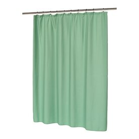 Carnation Home Fashions Polyester Sage Solid Shower Curtain 72 In X 70