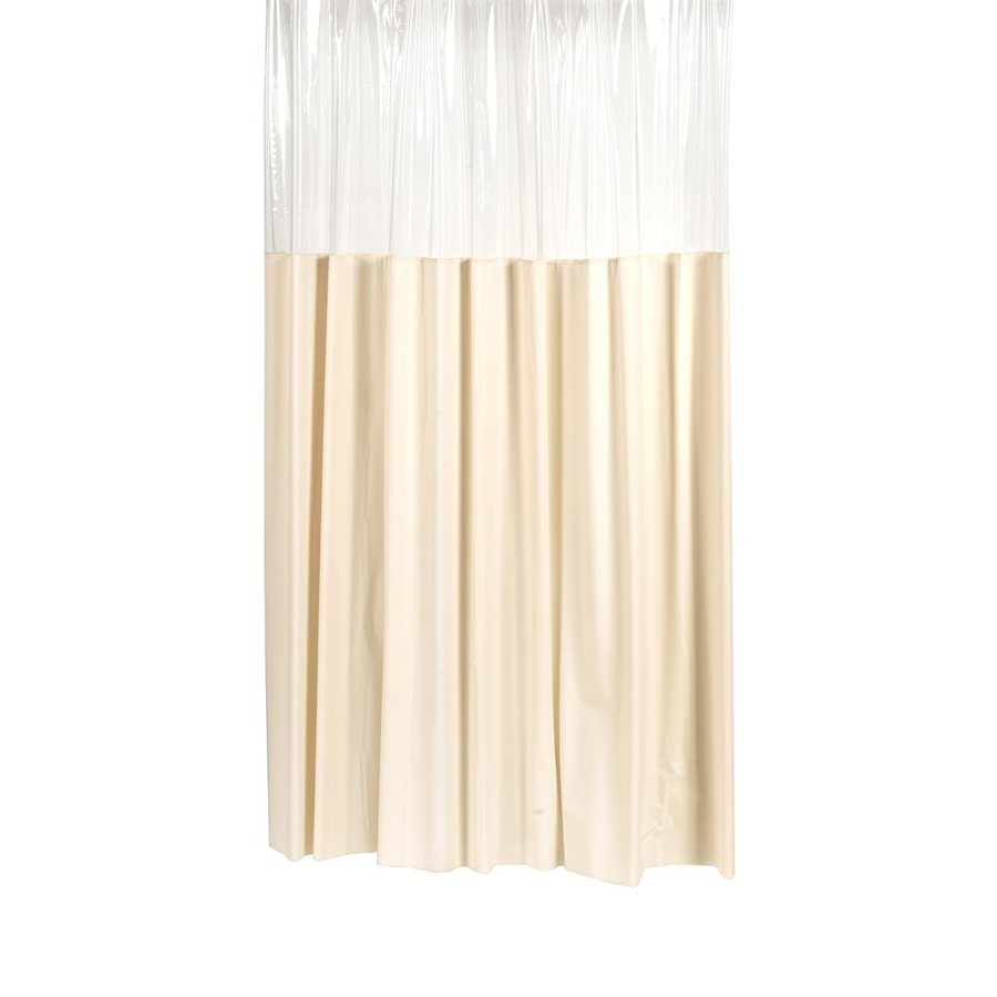 Carnation Home Fashions Vinyl Ivory Solid Shower Curtain
