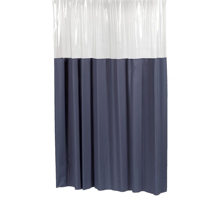 Carnation Home Fashions Vinyl Slate Solid Shower Curtain