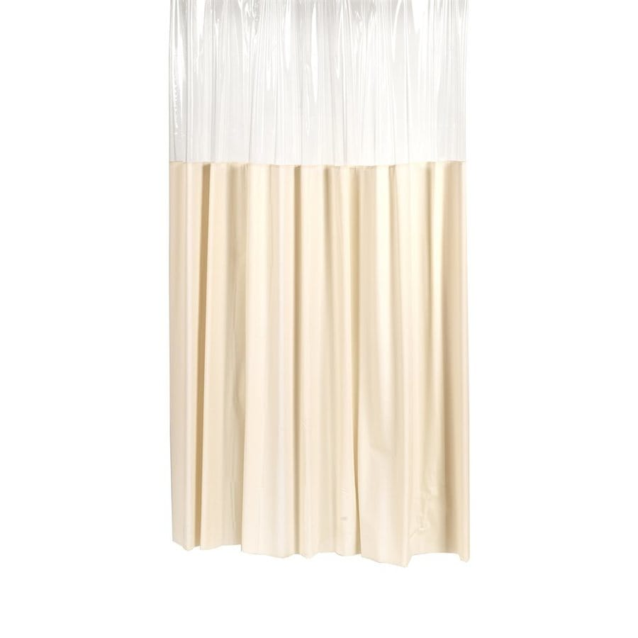 Carnation Home Fashions Vinyl Ivory Solid Shower Curtain 84 In X 72