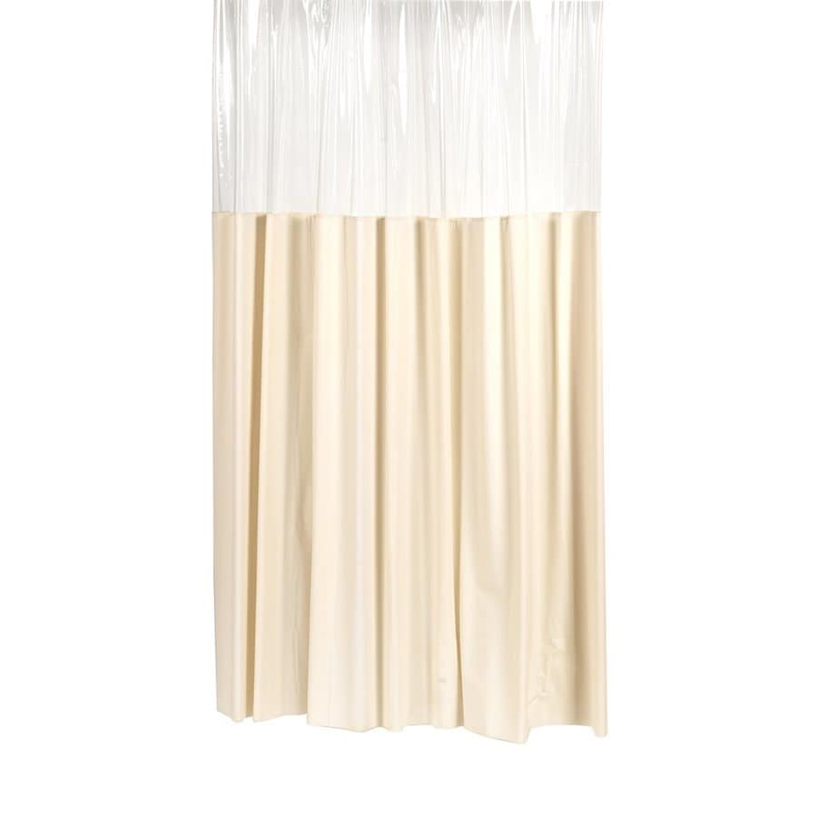 Carnation Home Fashions Vinyl Ivory Solid Shower Curtain 78 In X 54 In