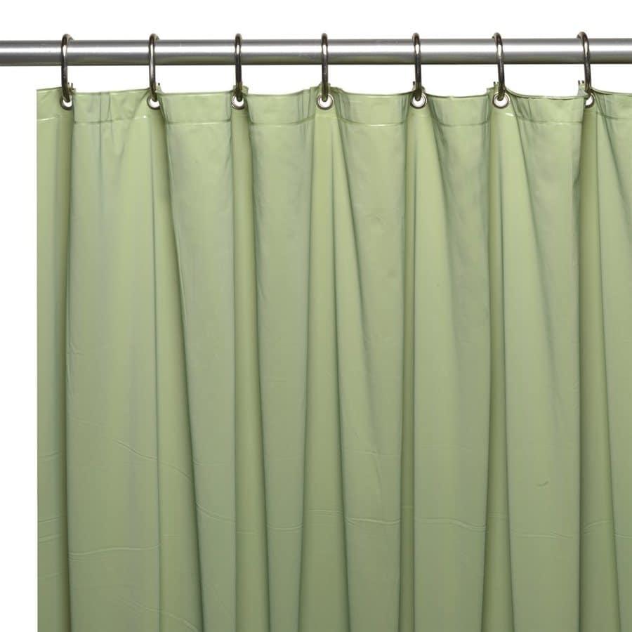 Carnation Home Fashions Vinyl Sage Solid Shower Liner