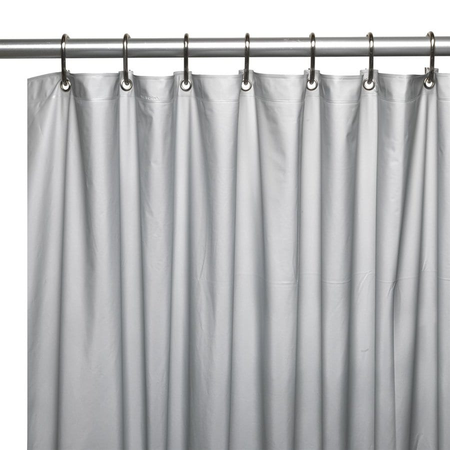 Carnation Home Fashions Vinyl Silver Solid Shower Liner