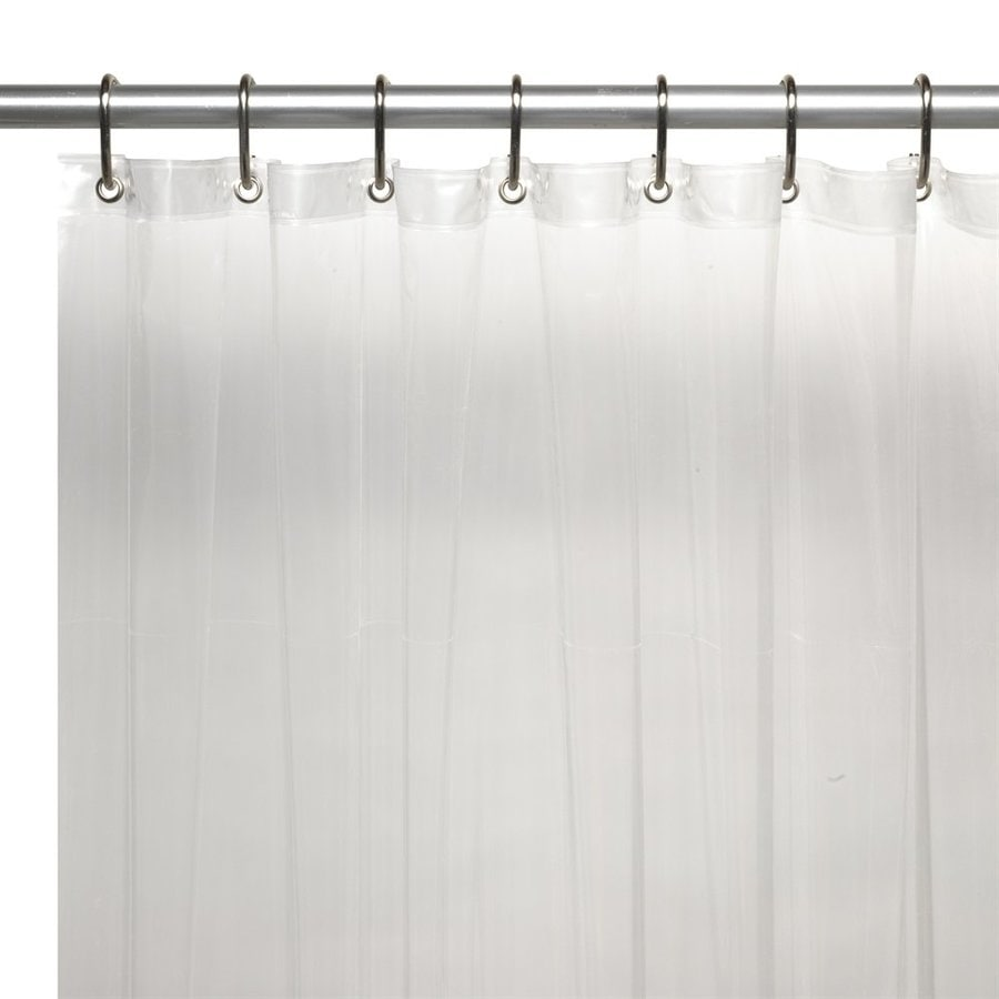 Carnation Home Fashions Vinyl Super Clear Solid Shower Liner