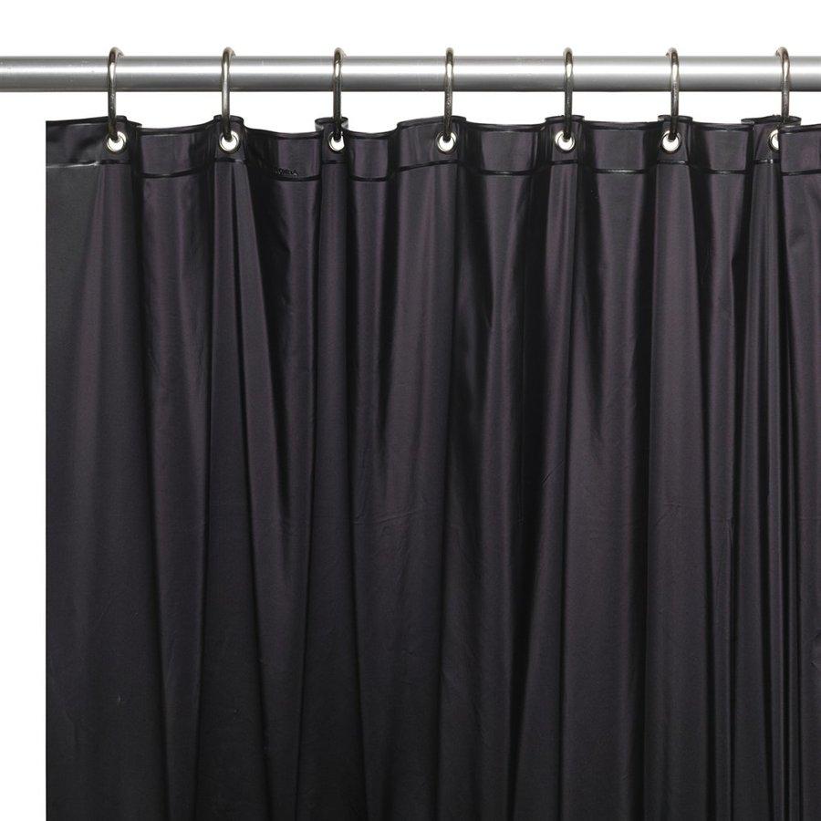Carnation Home Fashions Vinyl Black Solid Shower Liner