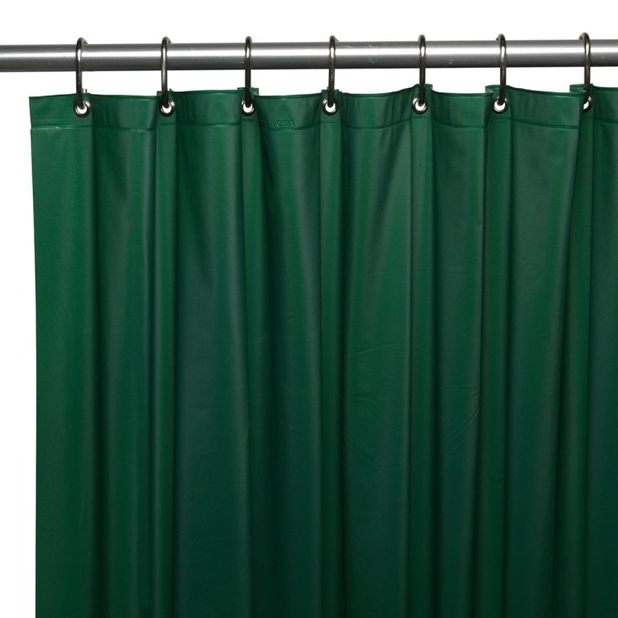 Carnation Home Fashions Vinyl Evergreen Solid Shower Liner