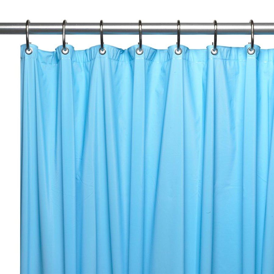 Shop Carnation Home Fashions Hotel Vinyl Light blue Solid Shower ...