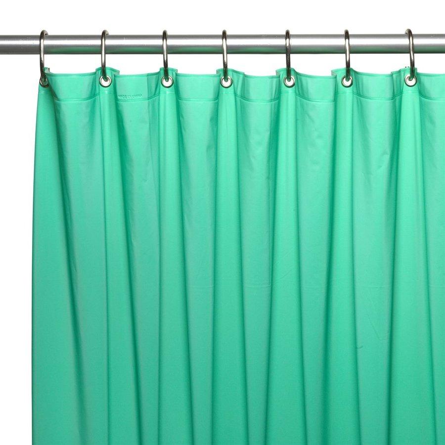 Carnation Home Fashions Hotel Vinyl Jade Solid Shower Liner