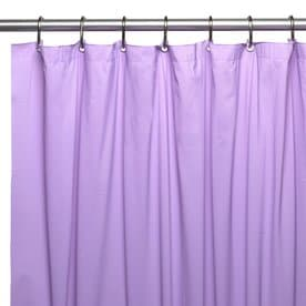 Carnation Home Fashions Hotel Vinyl Lilac Solid Shower Liner 72 In X