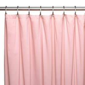 Carnation Home Fashions Hotel Vinyl Rose Solid Shower Liner 72 In X