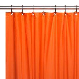 Carnation Home Fashions Hotel Vinyl Orange Solid Shower Liner 72 In X