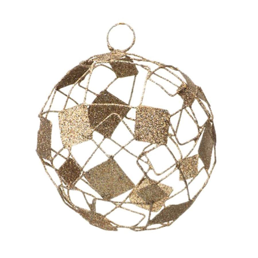 Zodax 6-Pack Champagne Ball Ornament Set