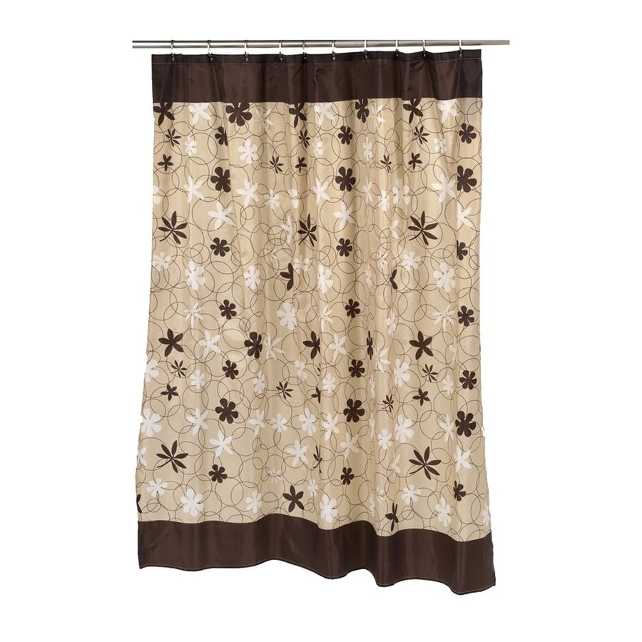 Shop Carnation Home Fashions Karen Polyester Brown Floral Shower ...
