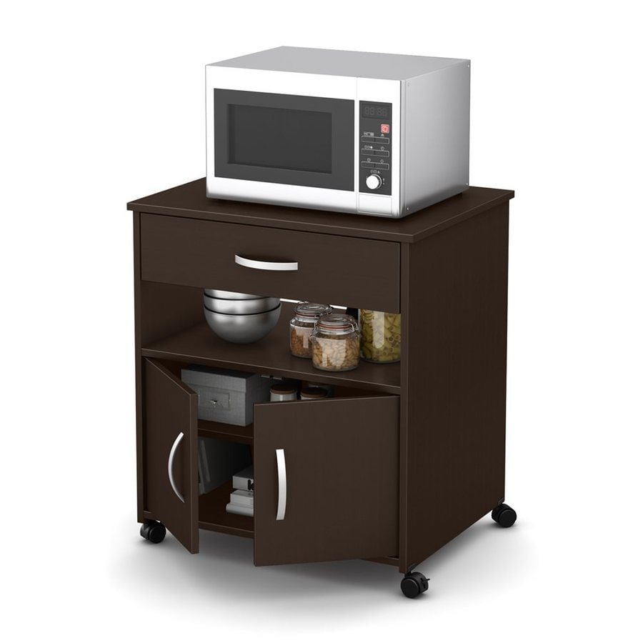 Go Home Black Industrial Kitchen Cart At Lowes Com: South Shore Furniture Fiesta Brown Industrial Microwave