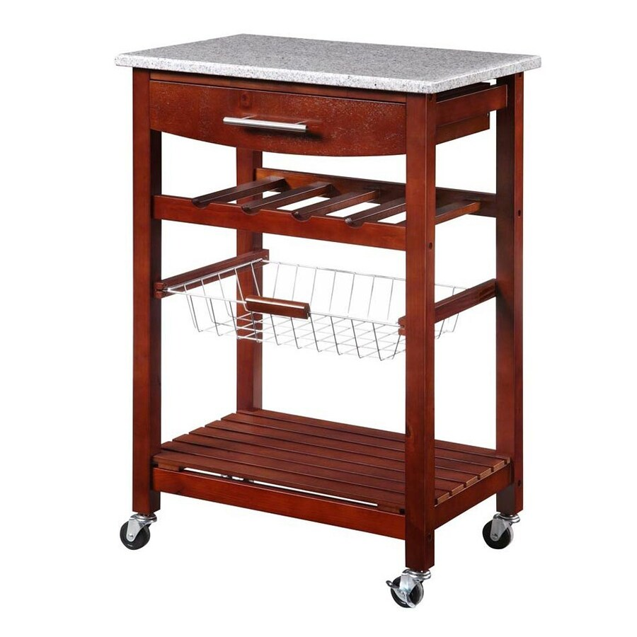 Linon Home Decor Island Red Kitchen Cart