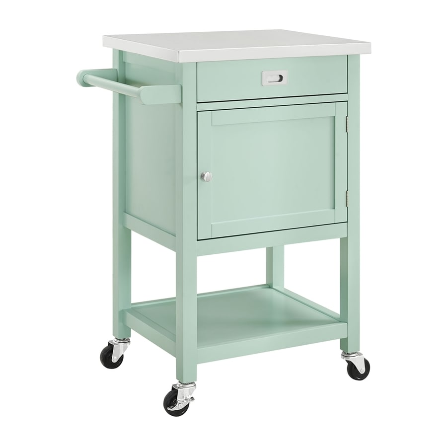 Shop Linon Home Decor Sydney Green Farmhouse Kitchen Cart at Lowes.com