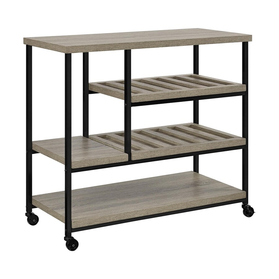 Shop Home Styles Black Scandinavian Kitchen Carts At Lowes Com: Ameriwood Home Black Scandinavian Kitchen Carts At Lowes.com