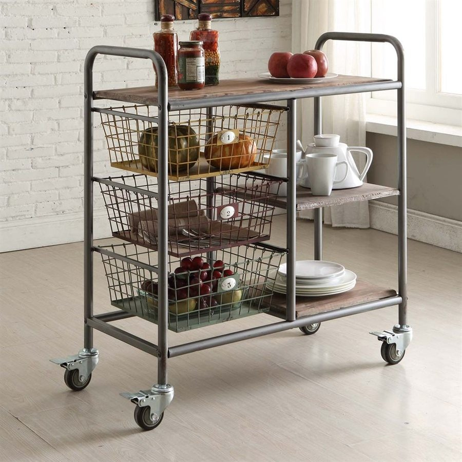Alera Industrial Kitchen Carts At Lowes Com: 4D Concepts Gray Industrial Kitchen Carts At Lowes.com