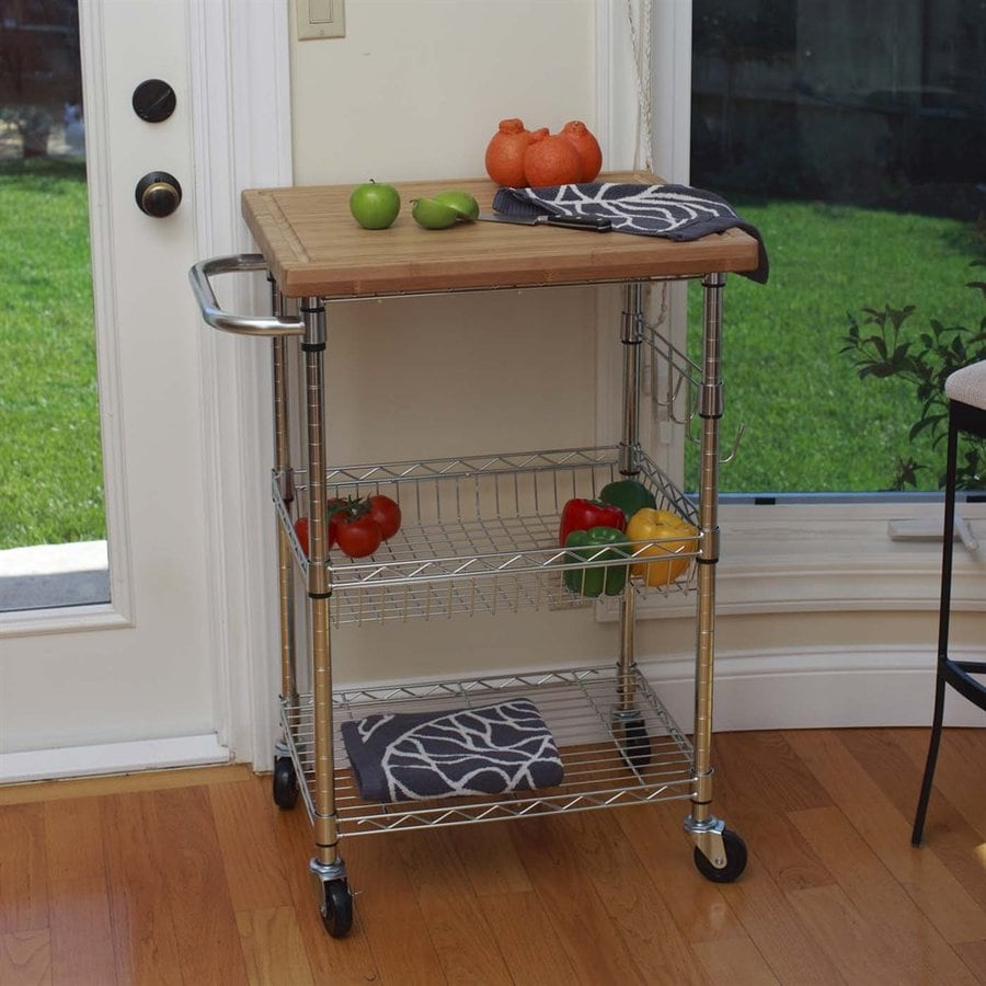 Alera Industrial Kitchen Carts At Lowes Com: Shop Trinity Chrome Industrial Kitchen Cart At Lowes.com