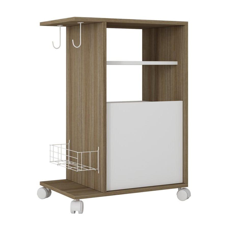 Bon Manhattan Comfort Brown Modern Kitchen Carts