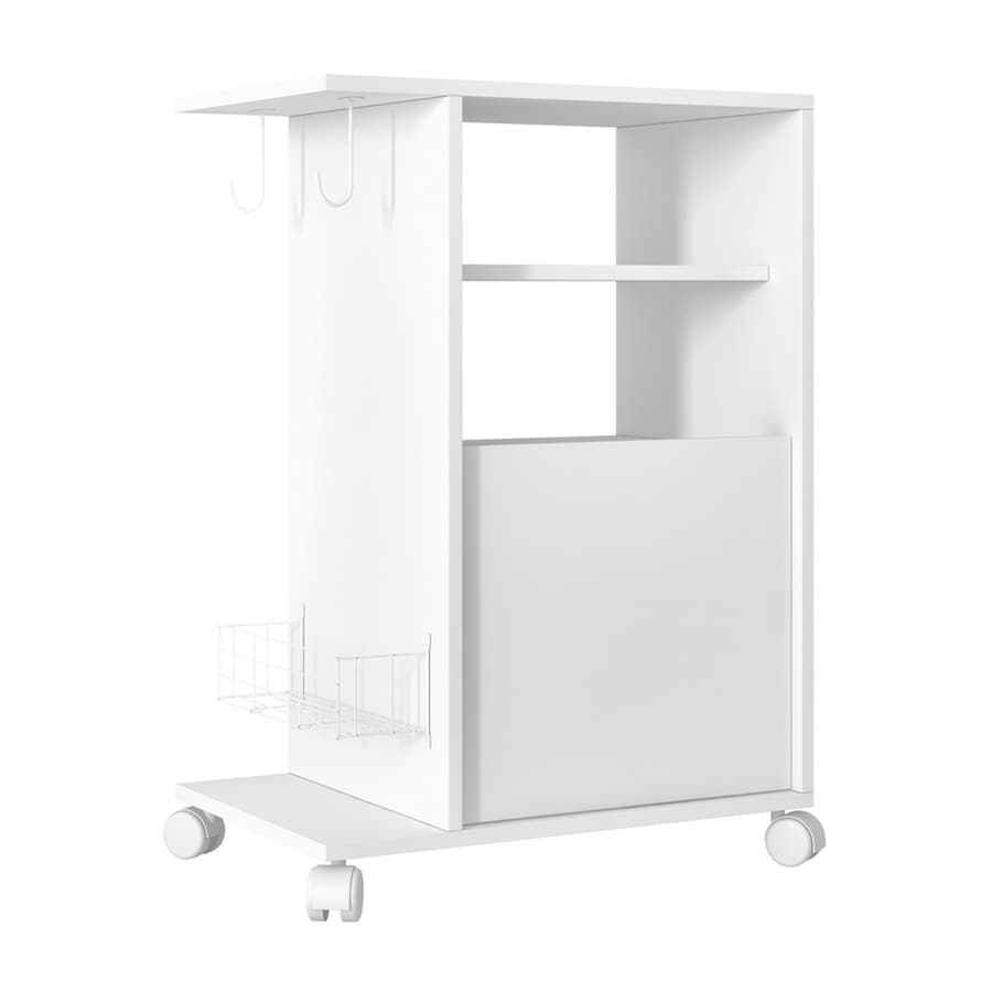 Manhattan Comfort White Modern Kitchen Carts