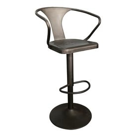 Worldwide Home Furnishings Industrial Gunmetal Stool