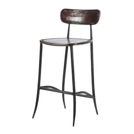 William Sheppee Pub Industrial Brown Bar Stool