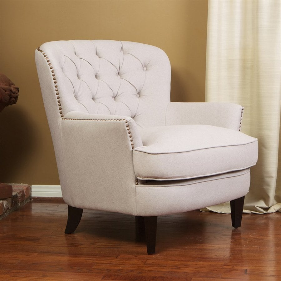 Best Selling Home Decor Tafton Casual Natural Linen Linen Club Chair