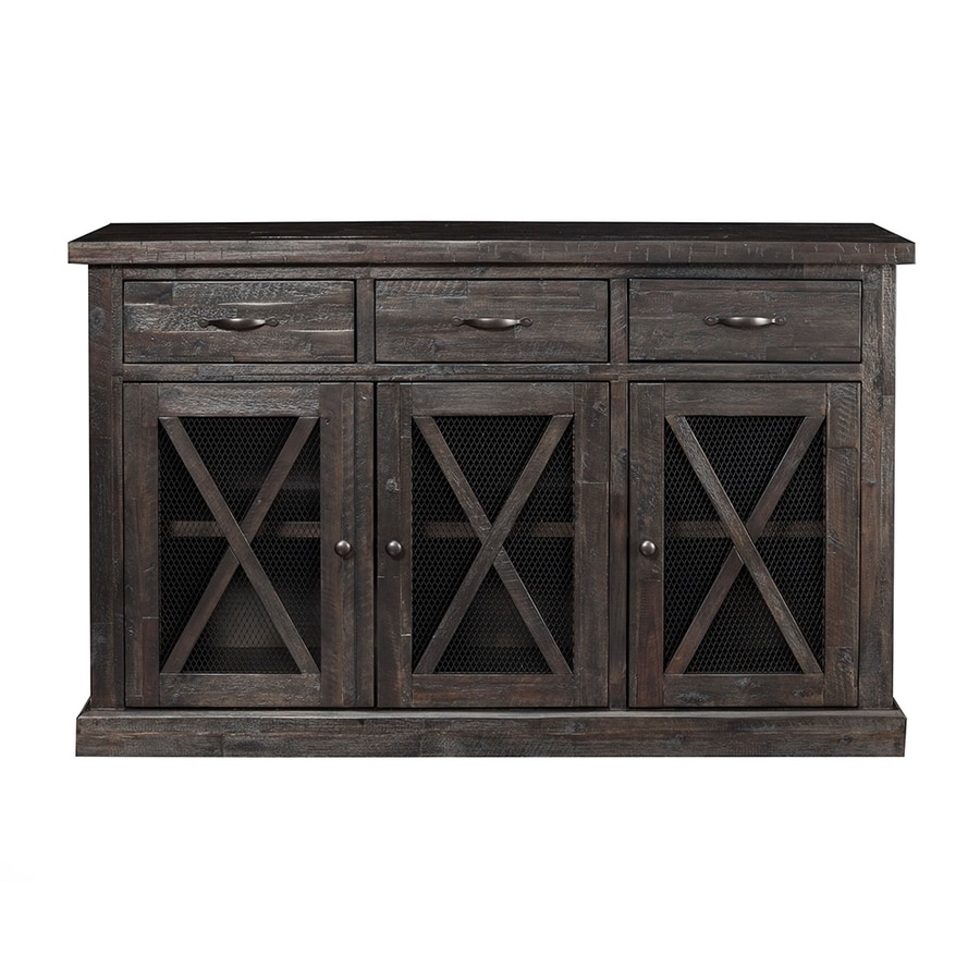 Alpine Furniture Newberry Salvaged Grey Acacia Sideboard