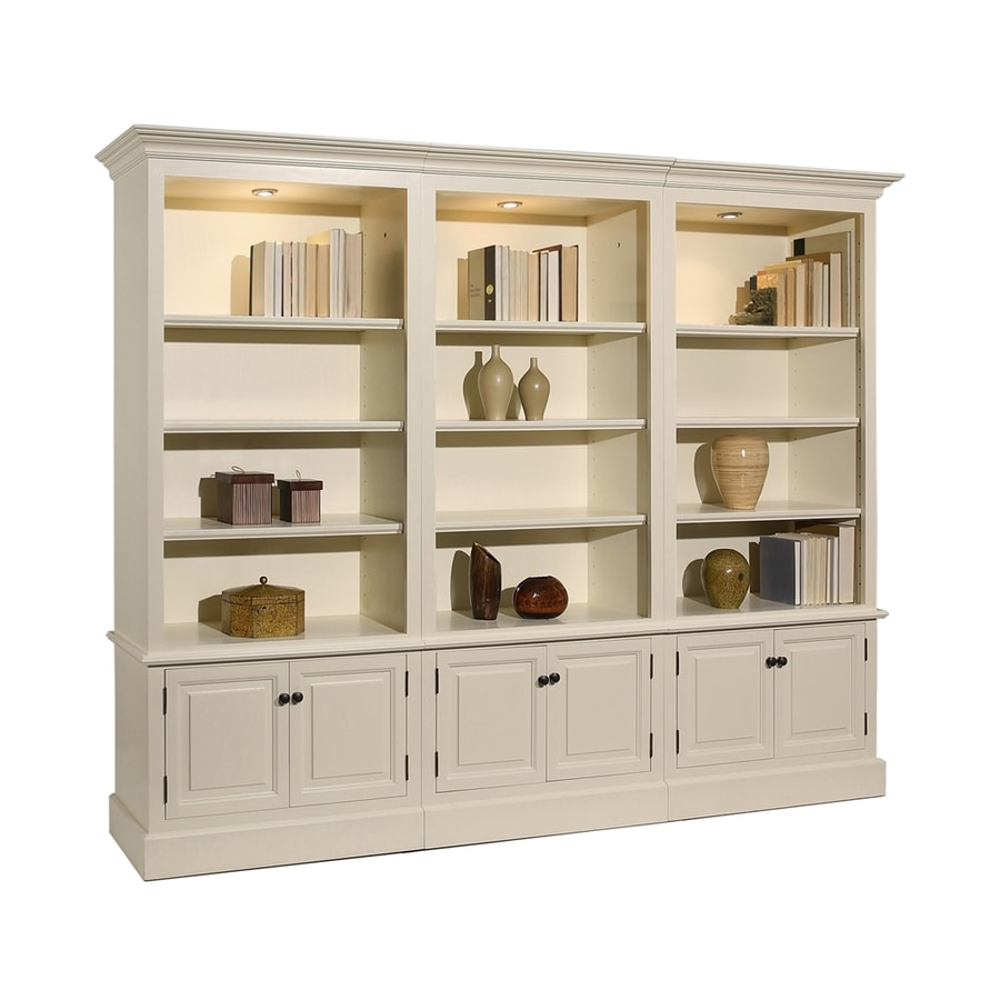 Ae Wood Design French Restoration Pearl White Wood 12 Shelf