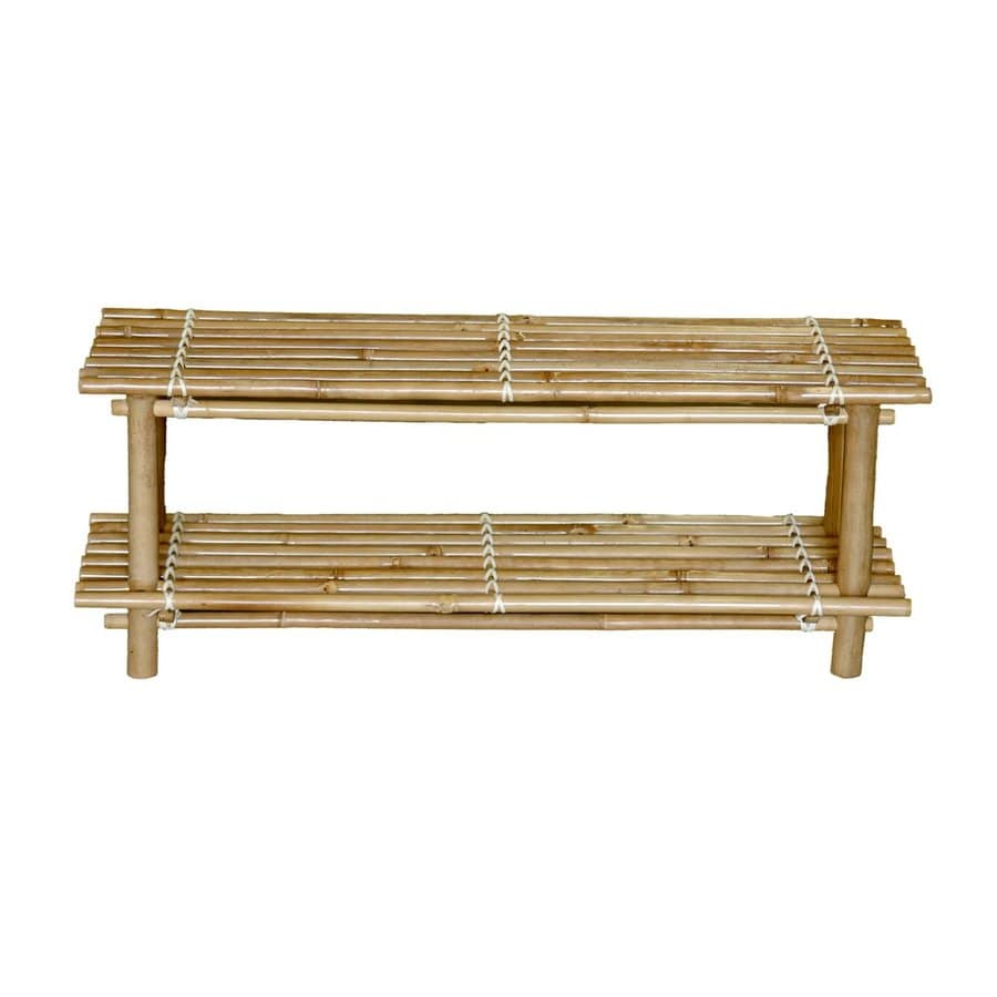 Bamboo 54 8 Pair Bamboo Wood Shoe Rack