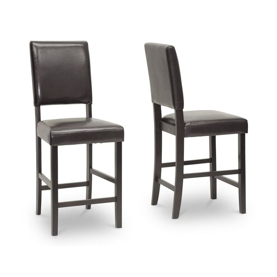 Baxton Studio Love Set of 2 Casual Wenge Counter Stools