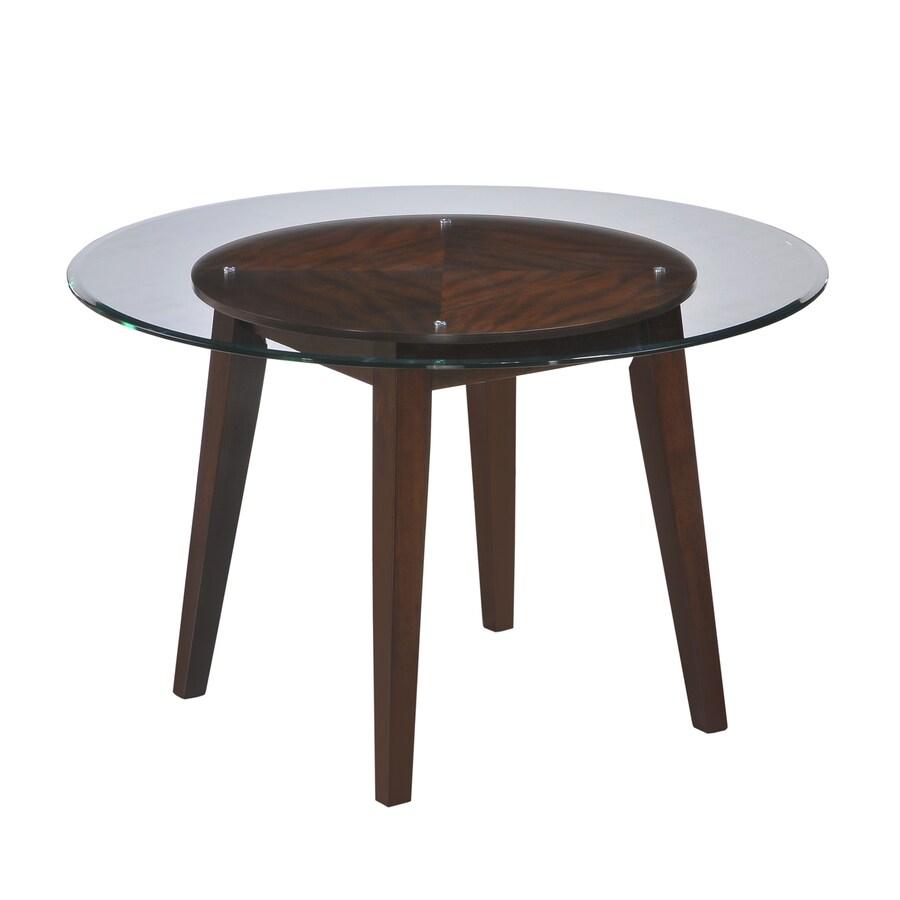 Myco Furniture Wegman Wegman Espresso Wood Round Dining Table