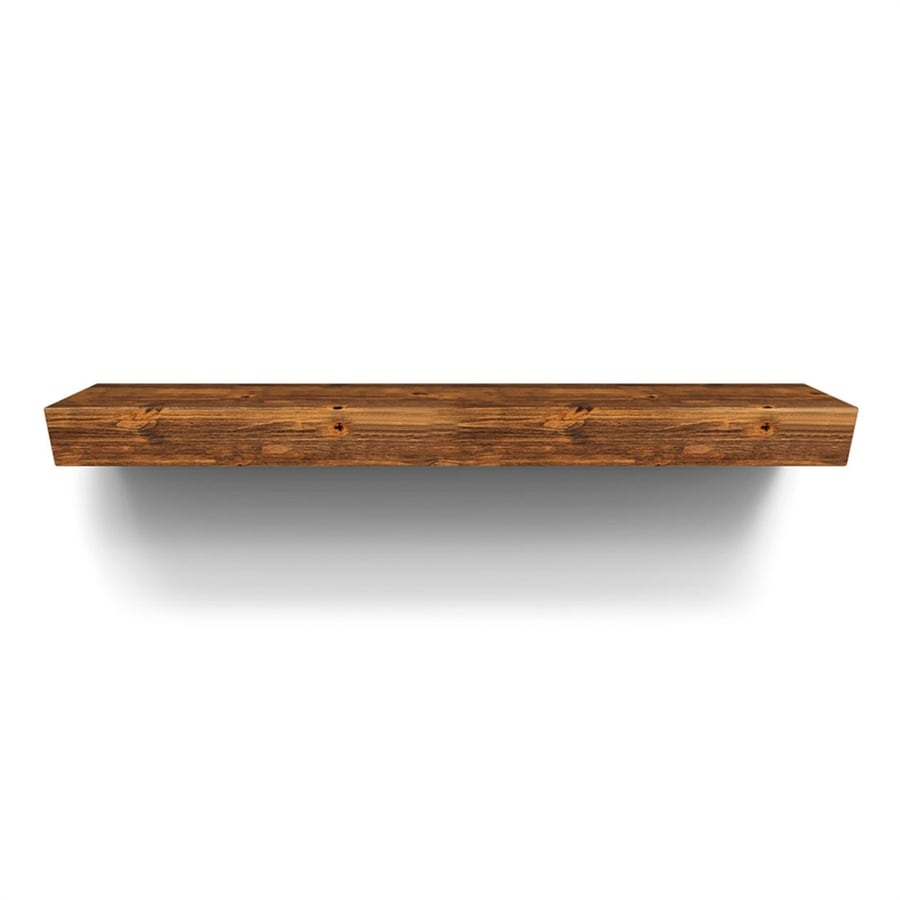 Ironwood Sundance 36-in W 6-in H x 10-in D Distressed Alder Contemporary Fireplace Mantel