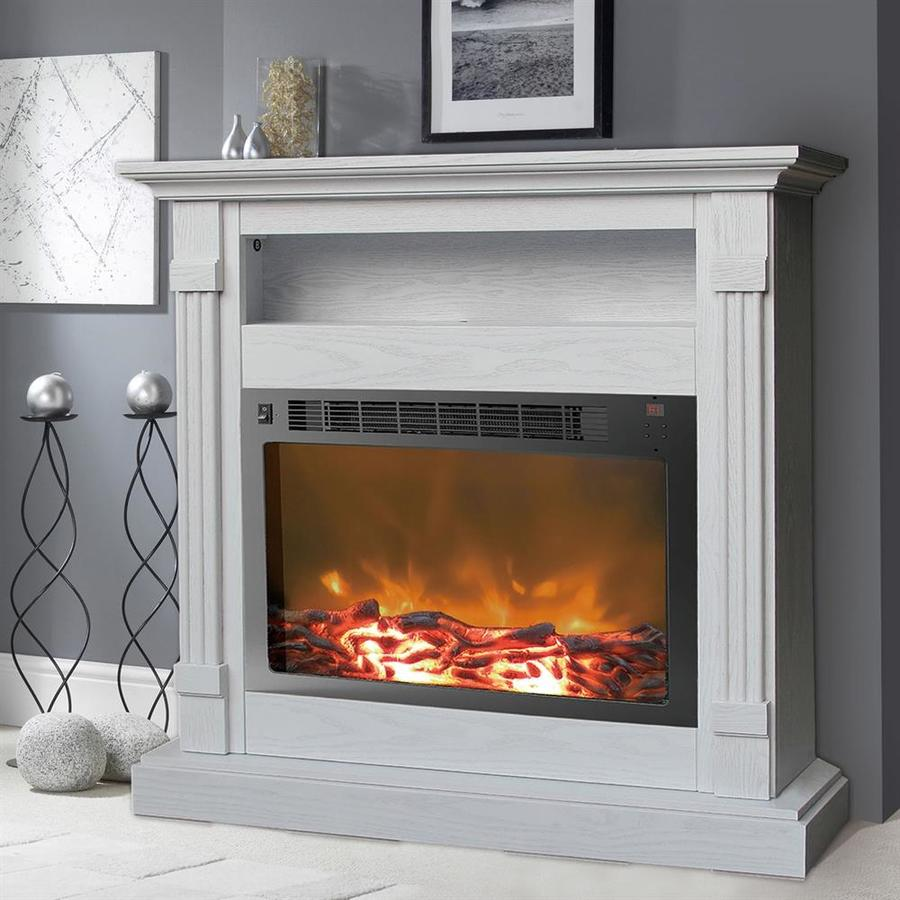 cambridge 33 9 in w white fan forced electric fireplace at. Black Bedroom Furniture Sets. Home Design Ideas