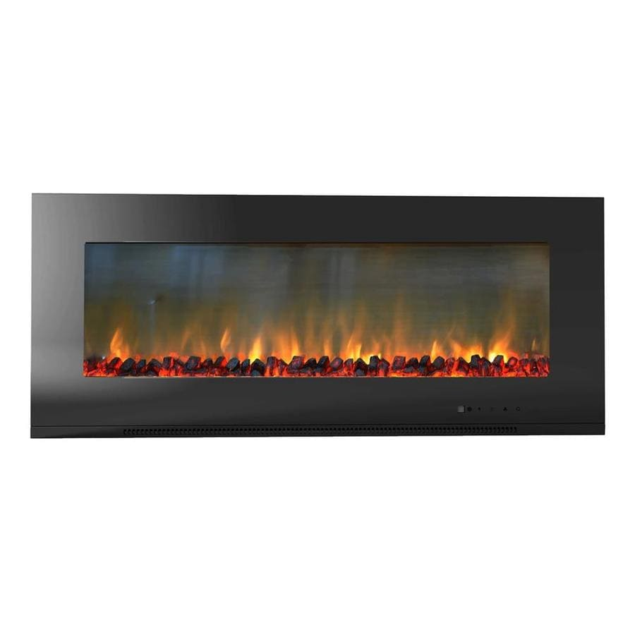 Shop cambridge 56-in w 4604-btu black metal wall-mount fan-forced electric fireplace remote control included in the electric fireplaces section of Lowes.com