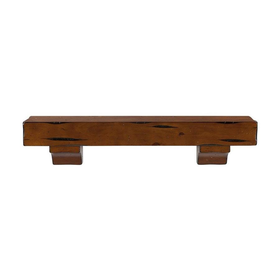 Pearl Mantels Shenandoah 48-in W 10.5-in H x 9-in D Rustic Medium Distressed Pine Contemporary Fireplace Mantel