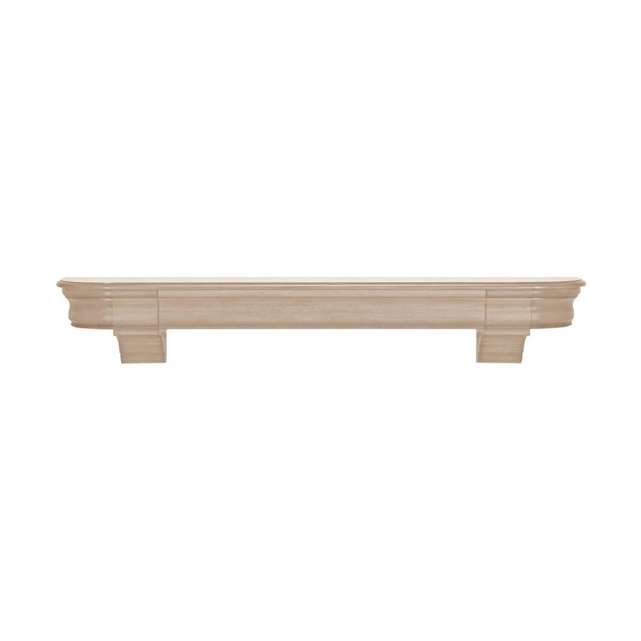 Pearl Mantels Abingdon 72-in W H x 10-in D Natural Asian Hardwood Traditional Fireplace Mantel