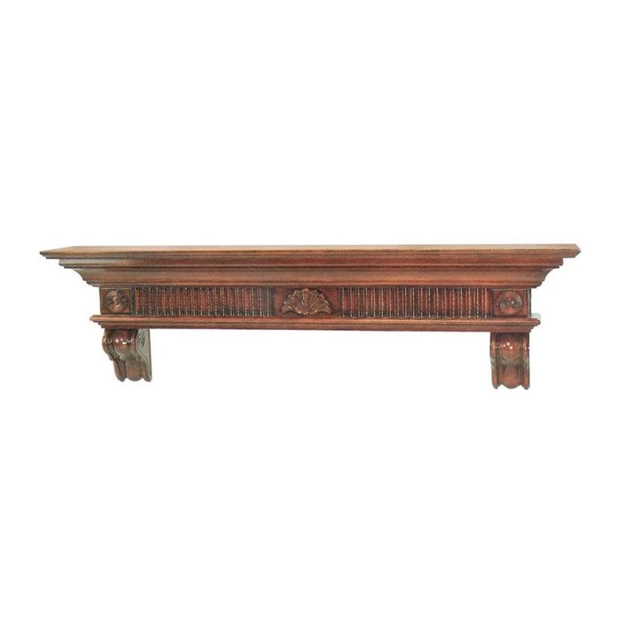 Pearl Mantels Devonshire 60-in W 16.75-in H x 10-in D Cherry Distressed Asian Hardwood Traditional Fireplace Mantel