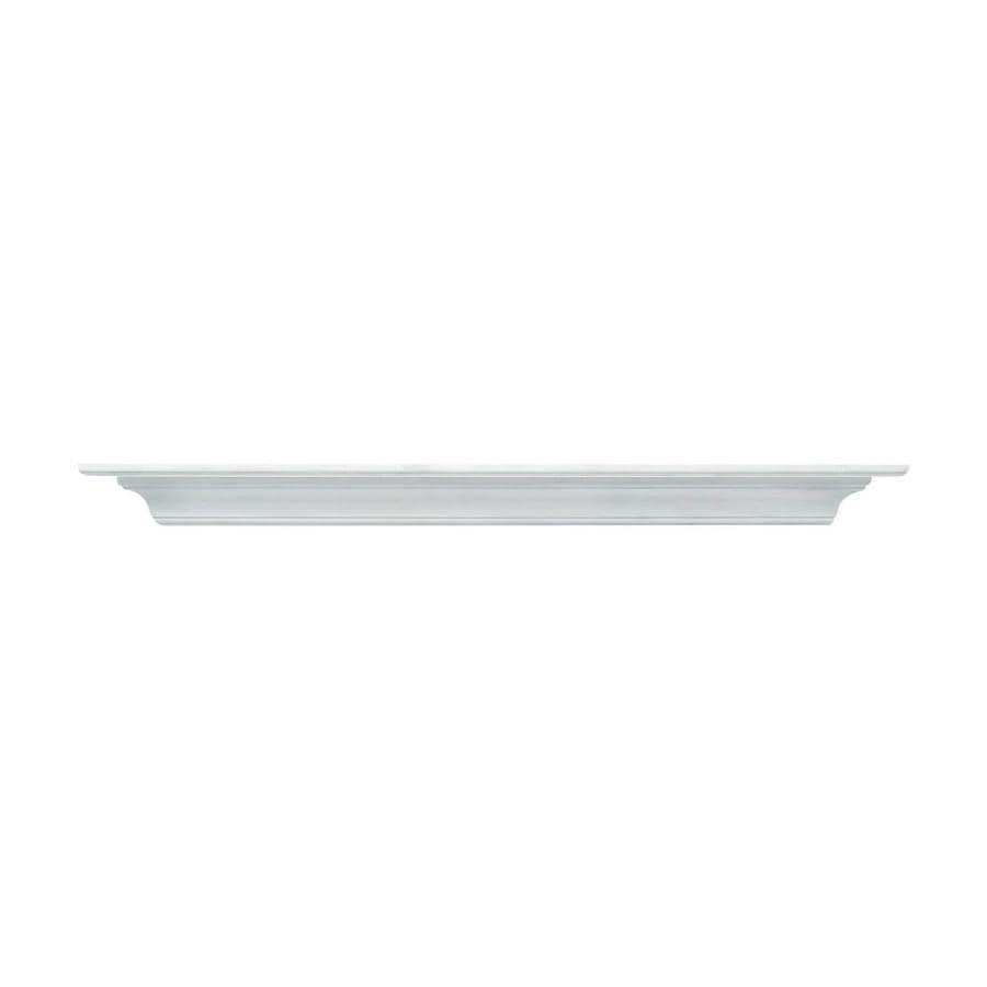 Pearl Mantels Contractors Corner 48-in W 5-in H x 10-in D White Traditional Fireplace Mantel
