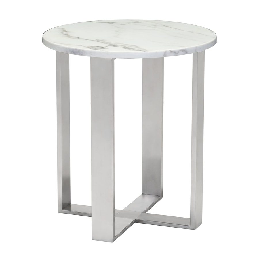 Zuo modern atlas faux marble stone faux marble end table